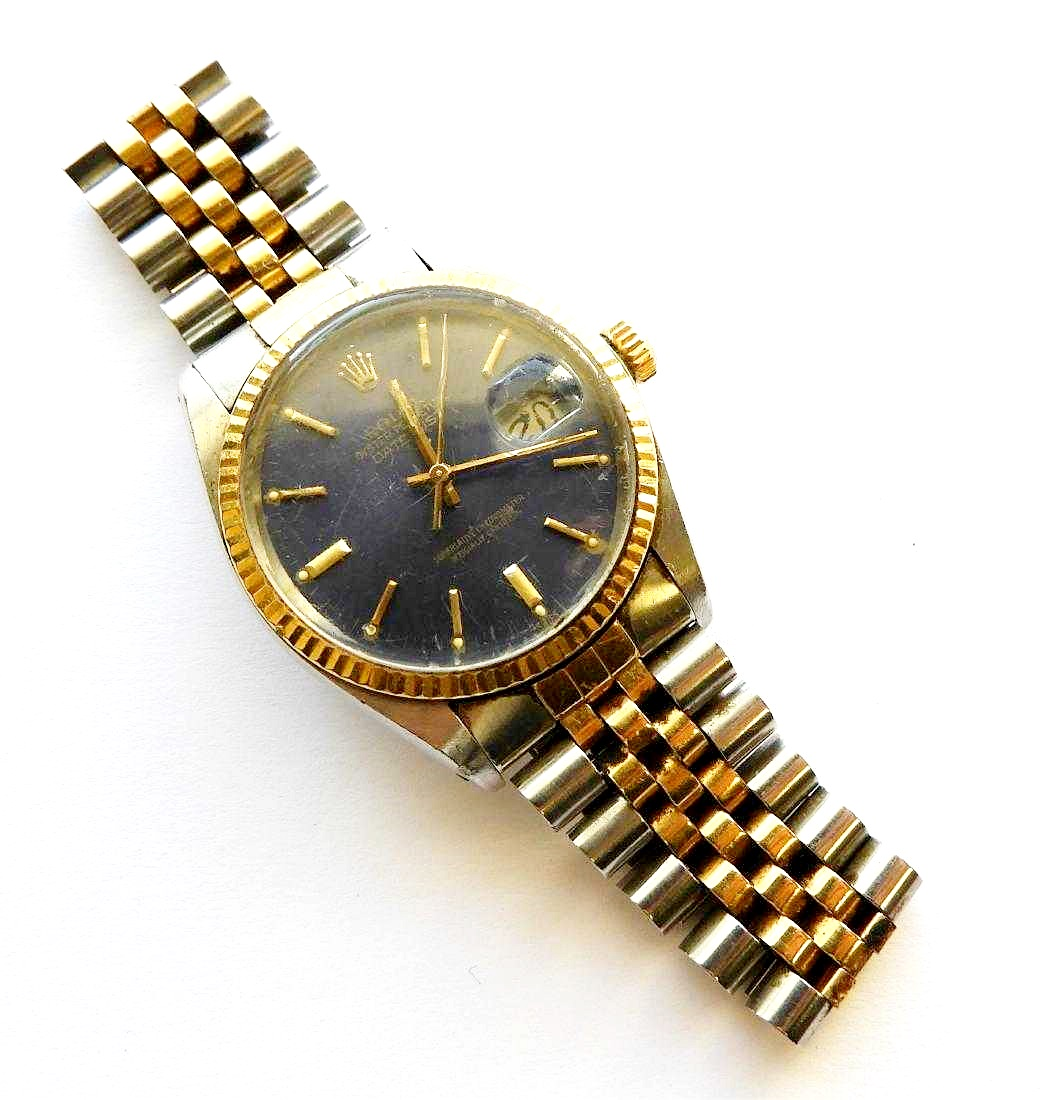 Rolex Men's DateJust Two Tone Chronometer Watch. Sold For $2,750