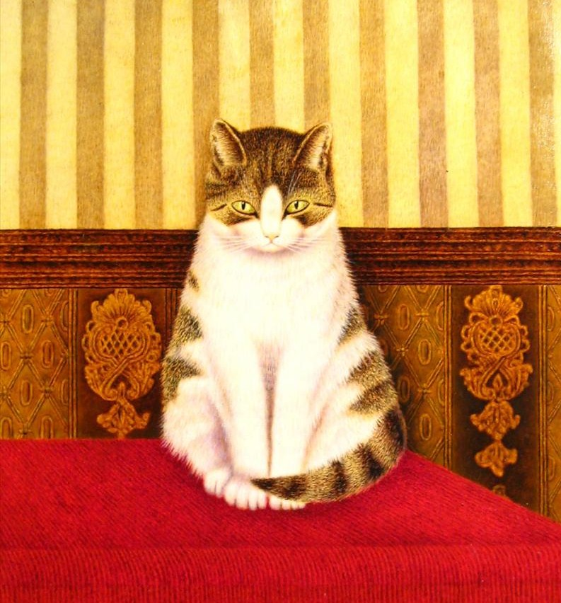 Sal Meijer, Dutch, 1878-1965, 'Cat On Bed', Oil On Canvas. Sold For $34,800.