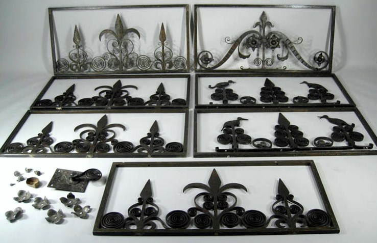 Samuel Yellin, NY, 1885-1940, Wrought Iron Panels. Sold For $13,800.