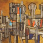 Satish Gujral, Indian, B. 1929, 'Masses #2', Oil On Canvas. Sold For $44,400.