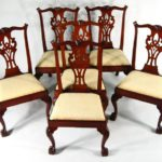 Set Of 6 American Chippendale Carved Mahogany Dining Chairs, NY, 1770-1790. Sold For $38,400.