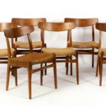Set Of 8 Hans Wegner For Hansen Dining Chairs. Sold For $3,500