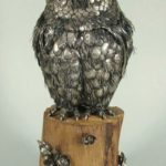 Signed Buccellati Sterling Silver Owl On Tree Trunk, 20th C. Sold For $7,137.