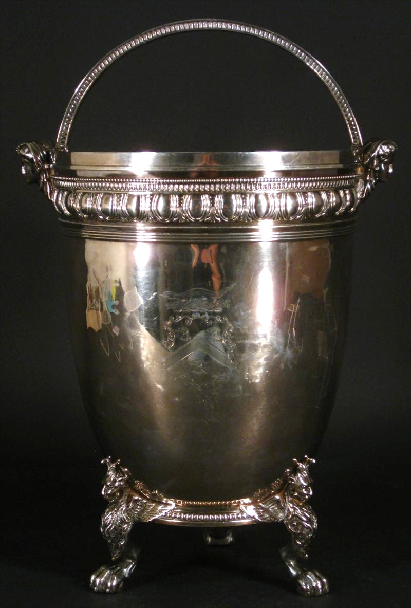 Sterling Silver Champagne Pail, Tiffany And Co., 1854-1869. Sold For $12,187.