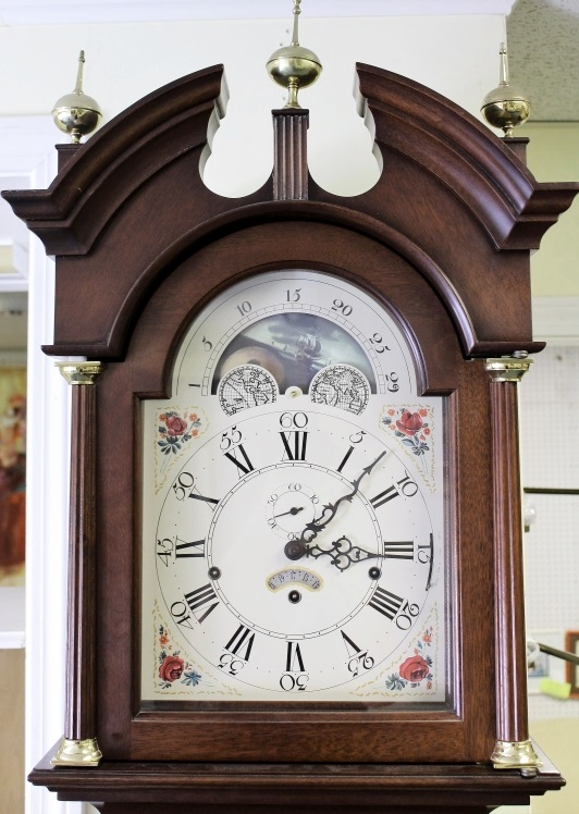 Stickley Made Col. Williamsburg Tall Case Clock, Sold For $3,125