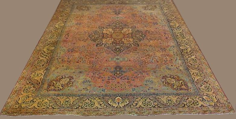 Tabriz Carpet, Circa 1900. Sold For $7,875.