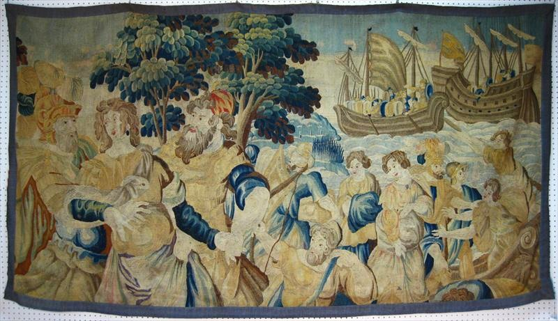 Tapestry Panel Fragment, 17th C. Sold For $4,750.