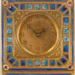 Tiffany & Co. Bronze & Enameled Bronze Chelsea Clock, Early 20th C. Sold For $4,501.