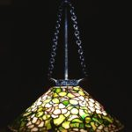 Tiffany Studios 'Dogwood' Leaded Glass & Patinated Bronze Hanging Chandelier, C. 1910. Sold For $79,800. No. 1578554