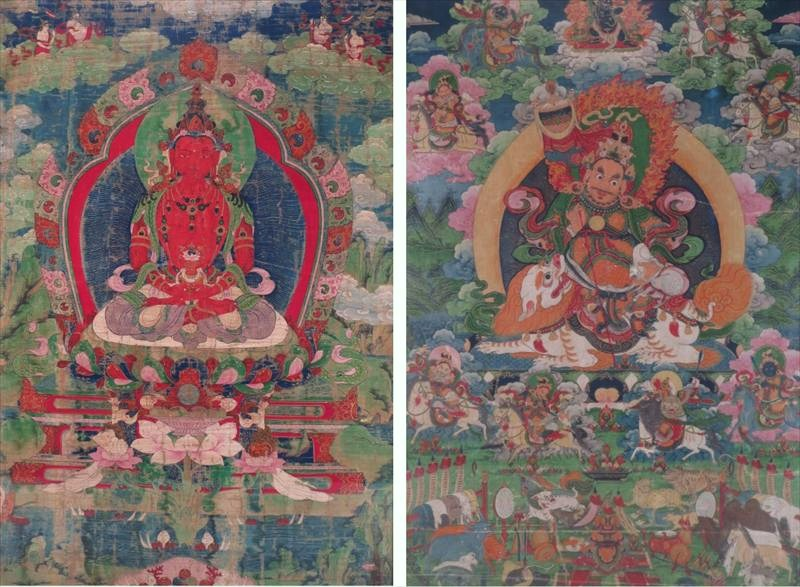 Two Tibetan Thangka, 18th-19th C. Sold For $30,000.