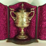 Victorian Silver Horse Racing Trophy Cup & Cover By JD & S, Town Of Sheffield, 1889. Sold For $10,000.