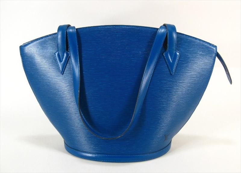 Vintage Blue Epi Leather Large 'St Jacques' Handbag By Louis Vuitton. Sold For $962.