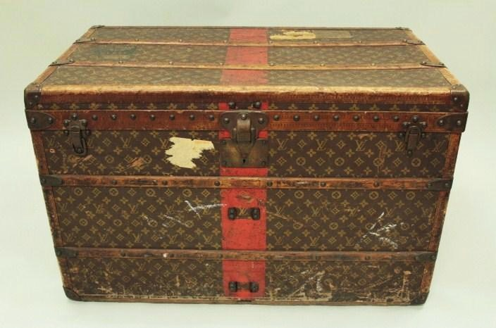 Vintage Louis Vuitton Trunk, French, 1st Quarter 20th C. Sold For $5,000.