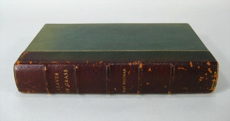 Walt Whitman Hand Signed Volume -Leaves Of Grass, Author's Edition, 1876. Sold For $6,250.