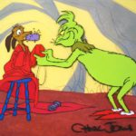 Warner Brothers, 'Dr. Seuss's, How The Grinch Stole Christmas', Original Production Cel, 35128. Sold For $2,000.