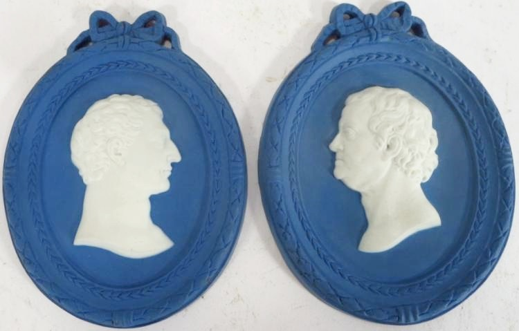 Wedgwood & Bentley; Washington + Franklin, 18th C. , Sold For $4,750