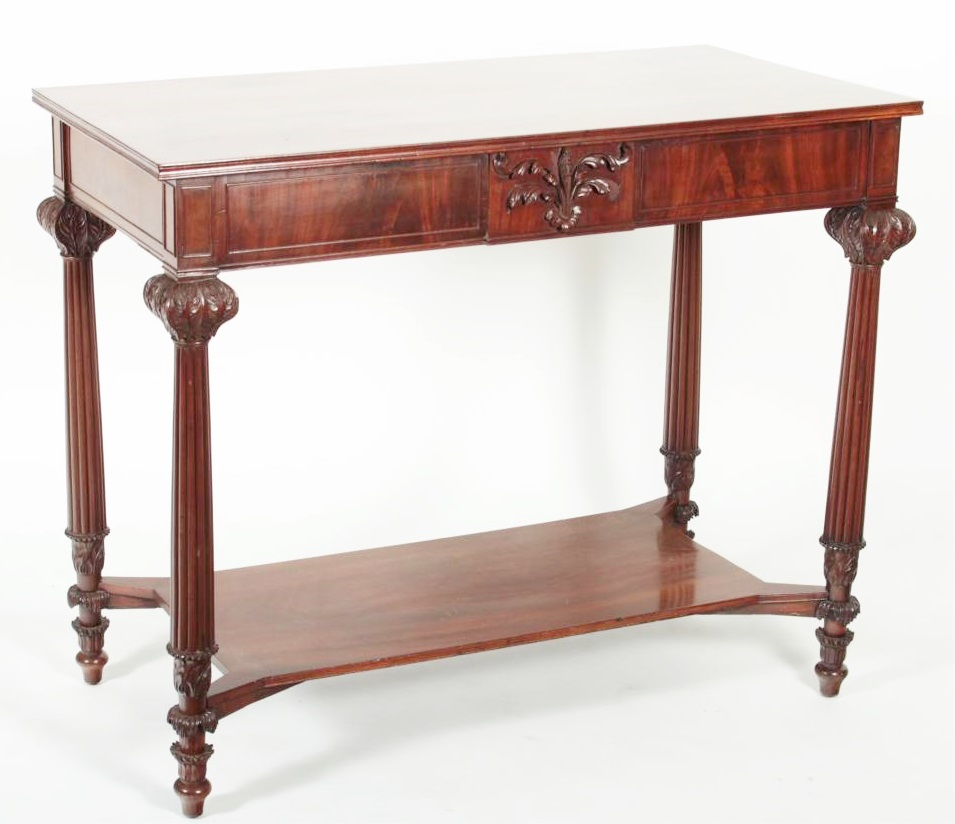 William IV Style Carved Mahogany Pier Table. Sold For $9,100