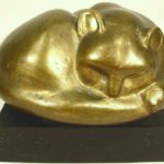 William Zorach, American, 1887-1966, 'Sleeping Cat', Bronze. Sold For $9,687. April 2005.