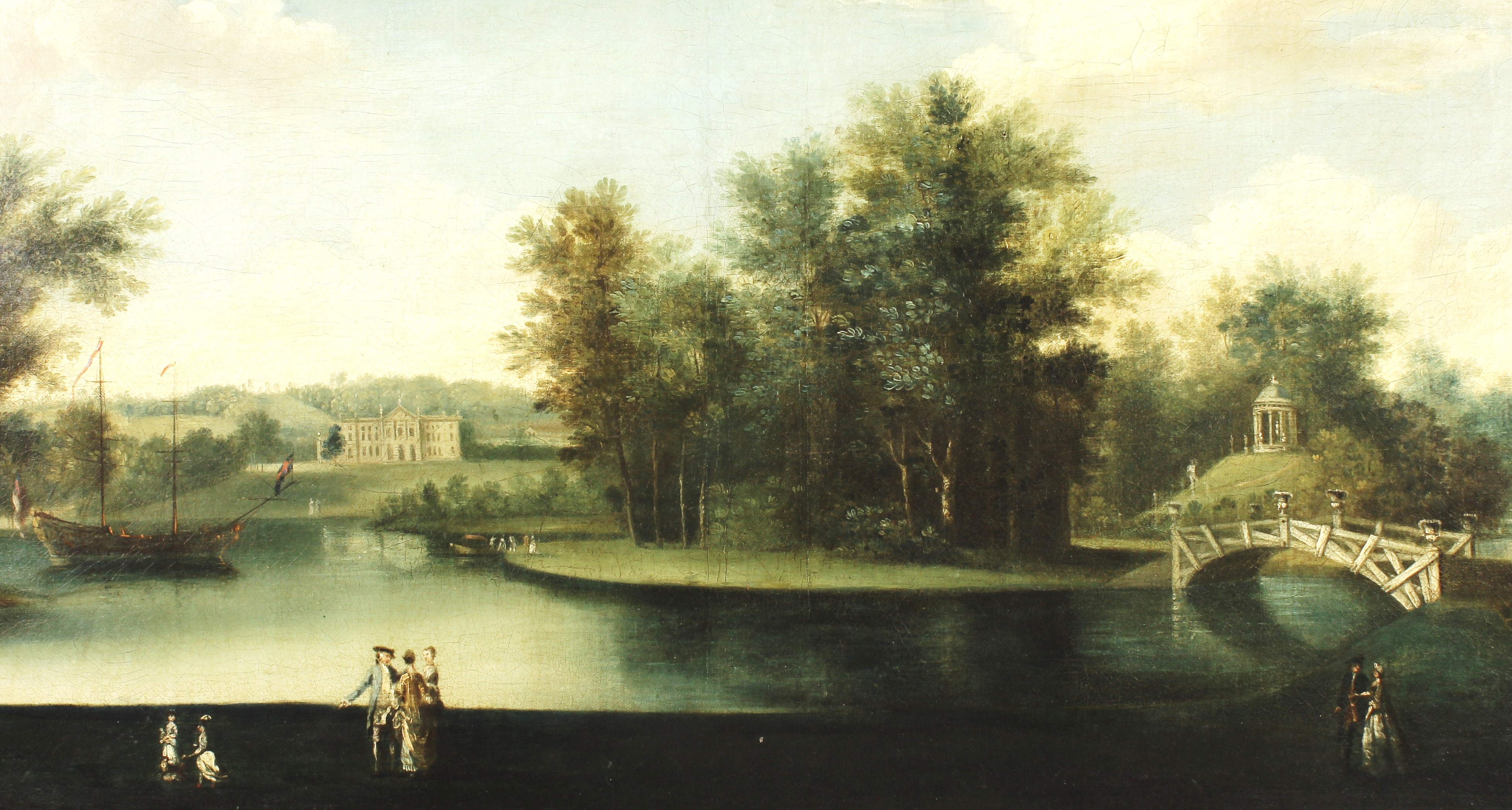 Wm. Hannan, British, 1725-1772-5, Wycombe Park. Sold For $11,328.