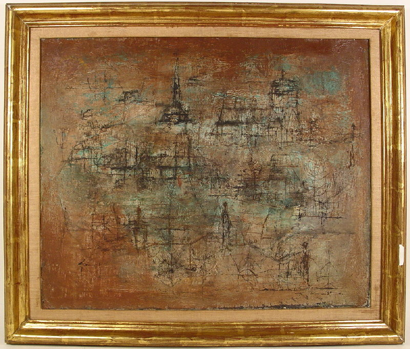 Zao Wou-Ki, Chinese-French, B. 1921, 'Untitled 1952', Oil On Canvas. Sold For $264,000