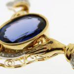 X.18k Gold, Tanzanite And Diamond Necklace
