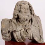 Limestone Bust Of A Man, Alsace-Lorraine Region Of France, 15th C.