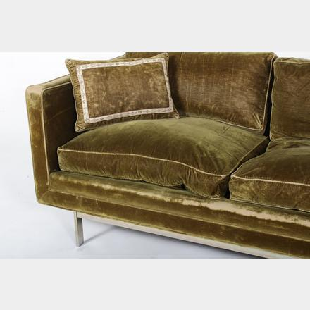 Mid-Century Modern Sofa Similar To Knoll Baughman. Sold For $2,875