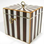 Georgian Rosewood, Satinwood & Ivory Tea Caddy, Early 19th C. Sold For $1,388 June 2008