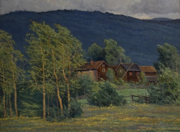 Lot 852 Charlotte Wahlstrom, Swedish, 1849 1924, Landscape. Sold For $2,500, February 11, 2016. – Copy