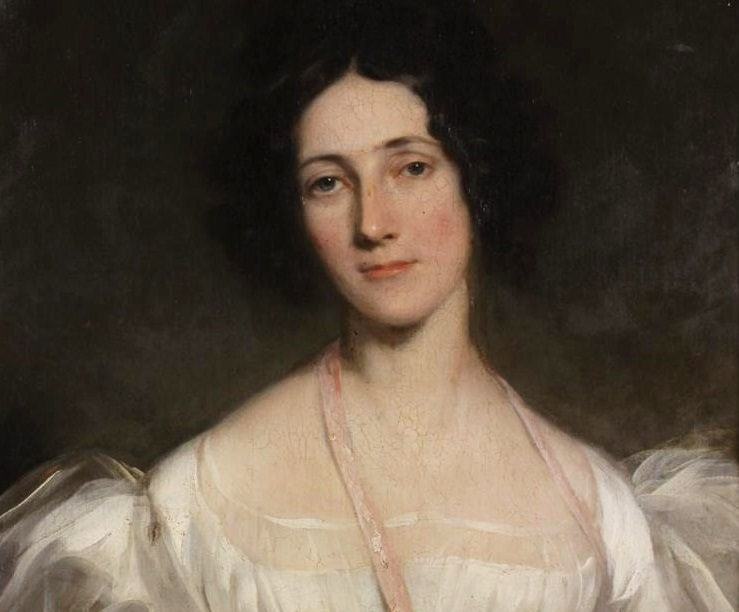 19th C. Portrait Of Woman In White Dress. Sold For $18,000.2