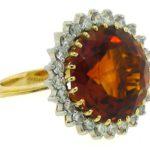 H. Stern 10.5 Carat Citrine & Diamond Ring