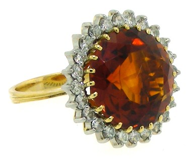H. Stern 10.5 Carat Citrine & Diamond Ring