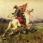 Josef Von Brandt, 1841-1915, Cossack Trumpeter Sounding A Charge