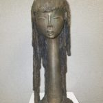 IMGBronze Head Of A Girl Is By Angel Botello, Puerto Rican, 10,000-15,000.3