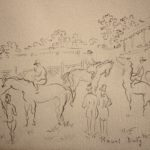 Raoul Dufy, French, 1877-1953, Figures At The Racetrack, Drawing. Estimate $3,000-5,000