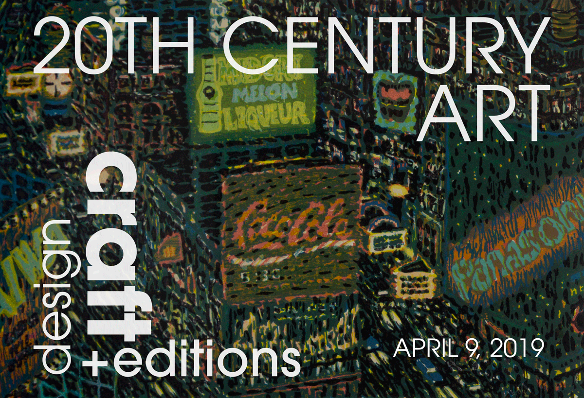 April 9, 2019 – Ended.  20th Century Art: Design, Craft + Editions @ Capsule NYC