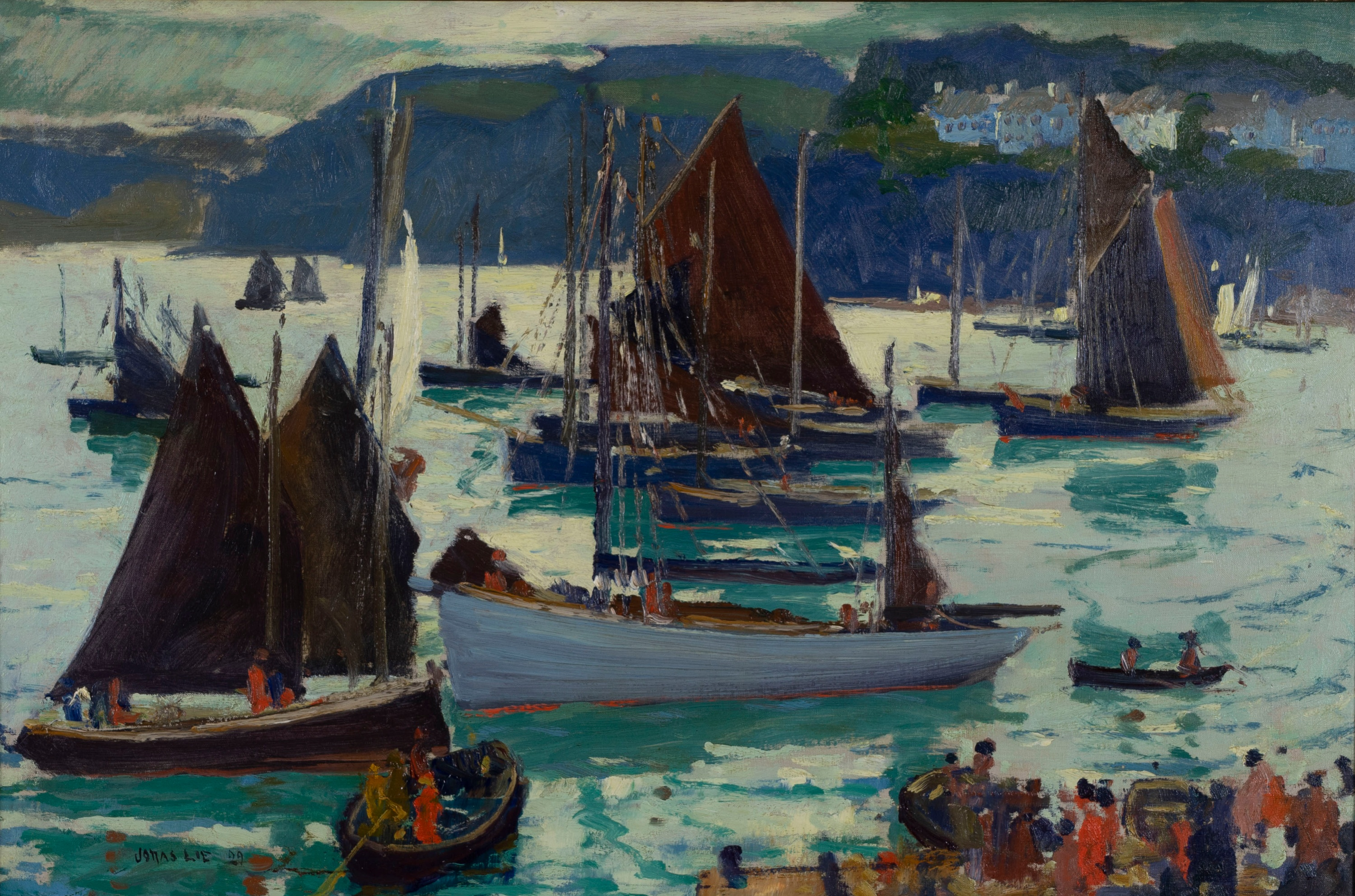 Jonas Lie, 1880-1940, Morning, Douarnenez, 1929, Oil On Canvas, Est. 15,000-25,000