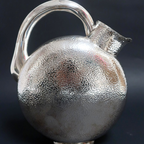 619. Modern .800 Silver Pitcher From Portugal