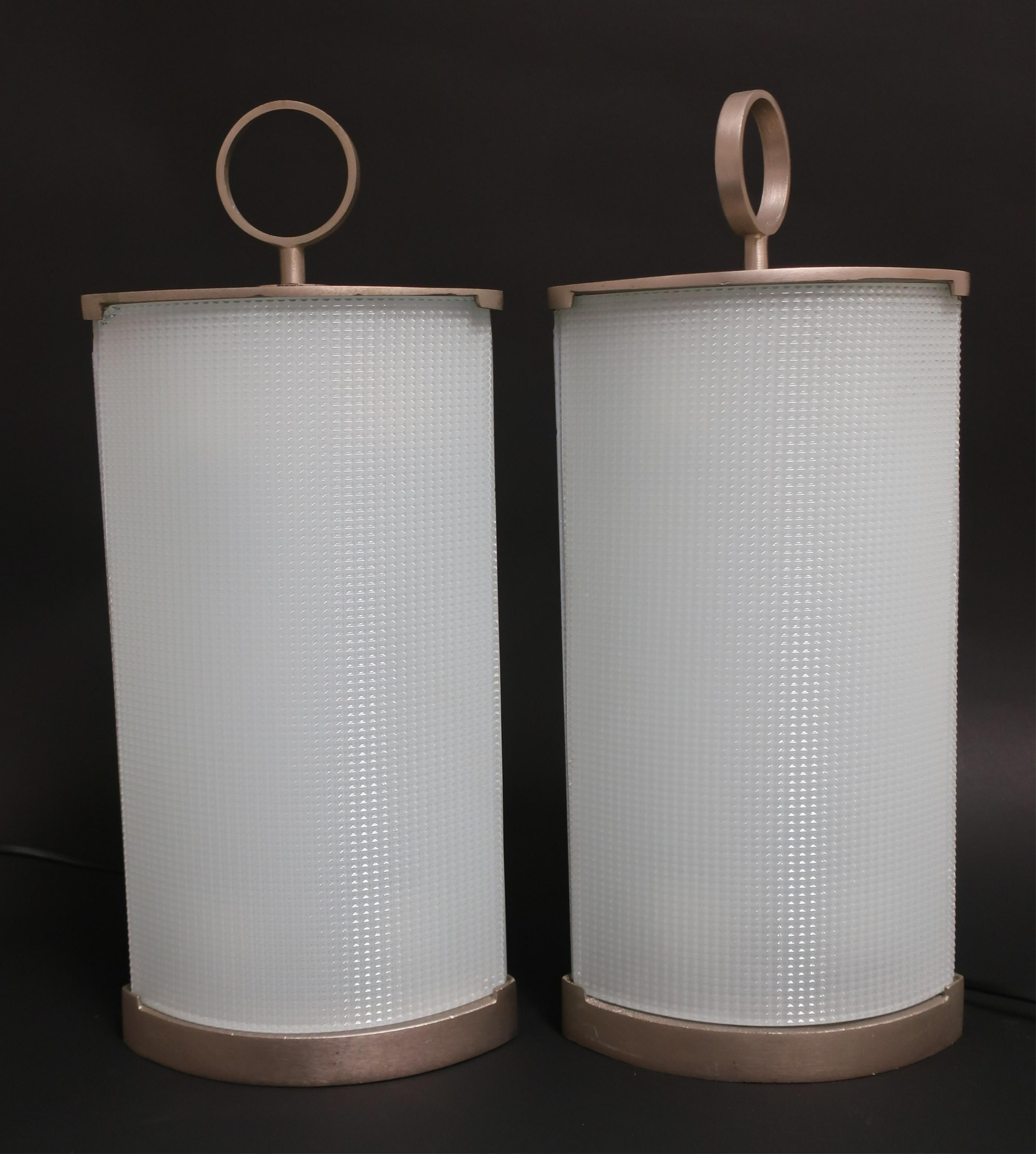 805 Gio Ponti Fontana Arte Pirellina Glass Lamps