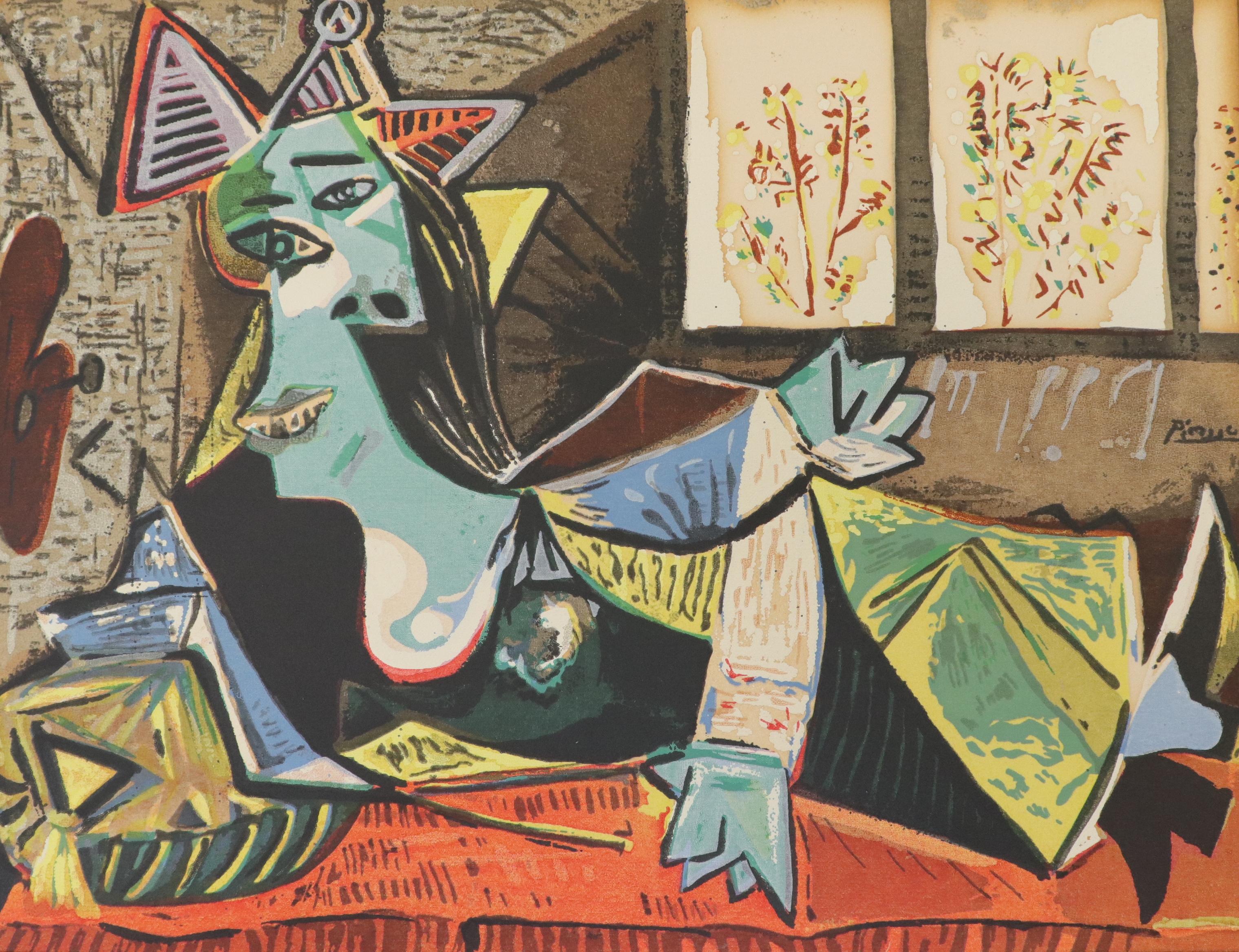 Pablo Picasso, Femme Un Divan, Serigraph.600.900
